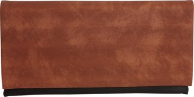 JNB Color Block Clutch Brown - JNB Fabric Handbags