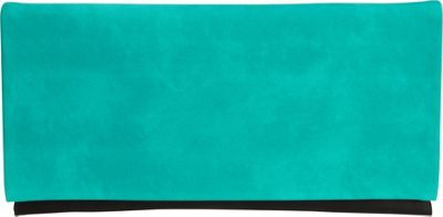 JNB Color Block Clutch Emerald - JNB Fabric Handbags