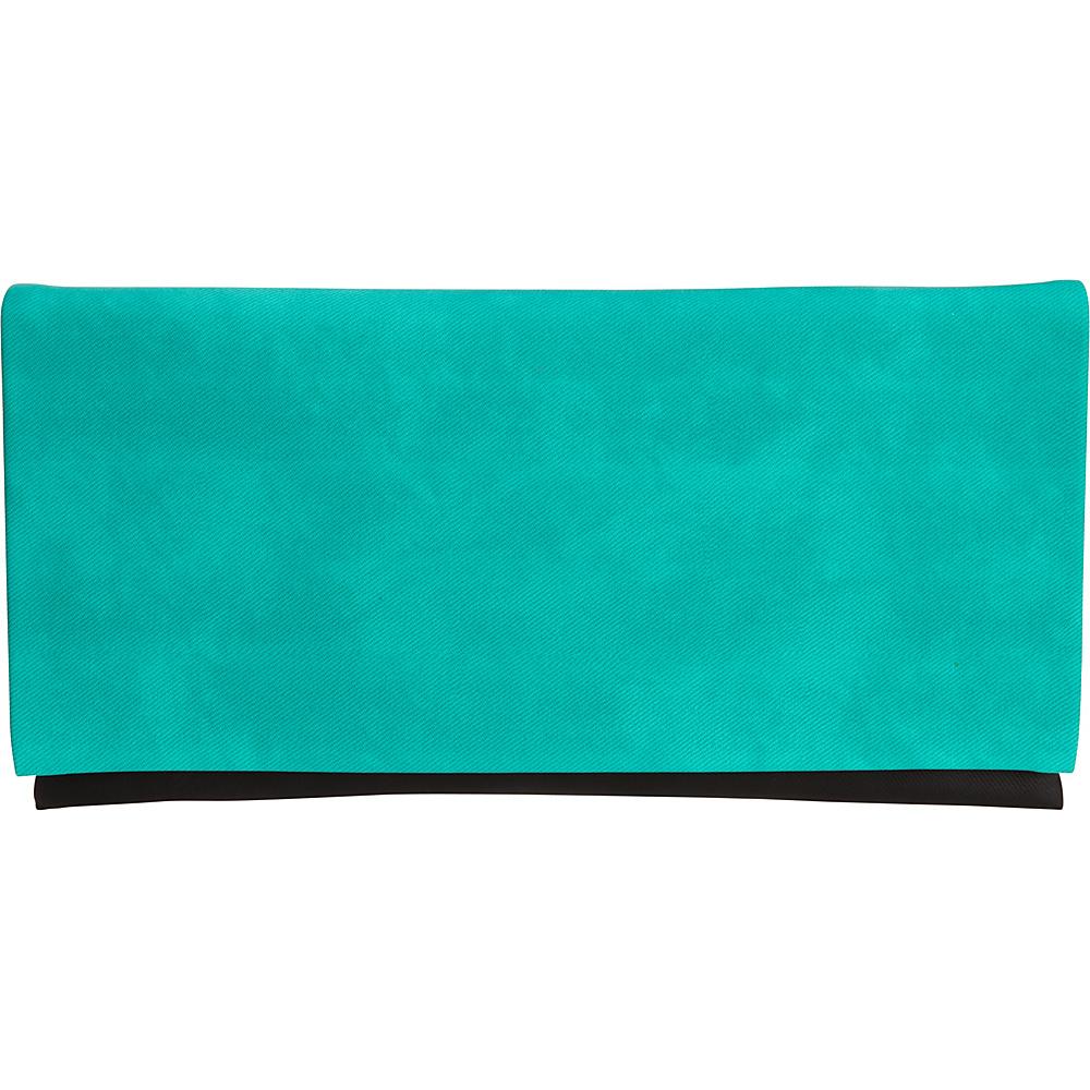 JNB Color Block Clutch Emerald JNB Fabric Handbags
