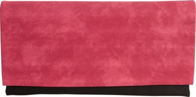 JNB Color Block Clutch Fuchsia - JNB Fabric Handbags