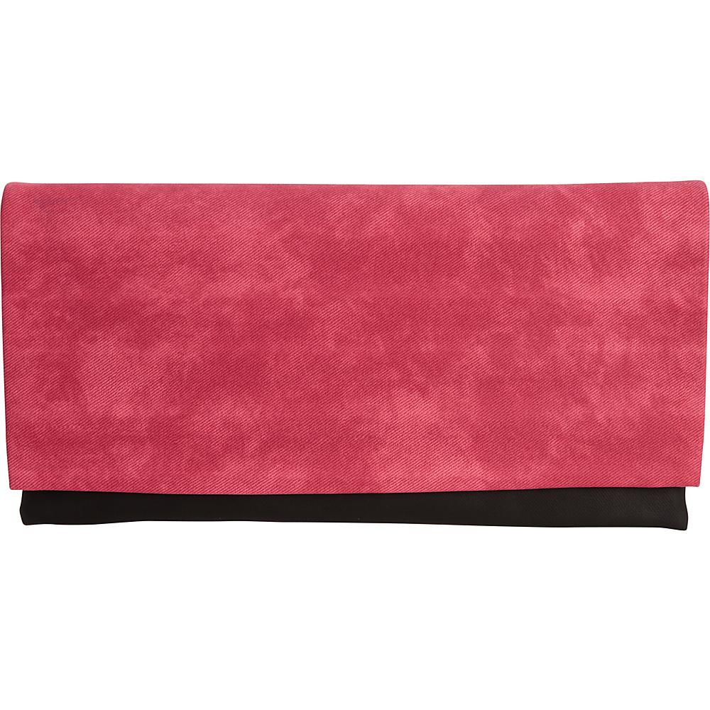 JNB Color Block Clutch Fuchsia JNB Fabric Handbags