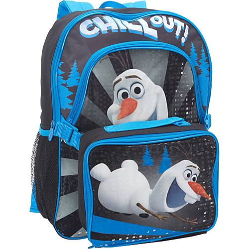 Disney Frozen Backpack with Lunch Kit Black - Disney School & Day Hiking Backpacks