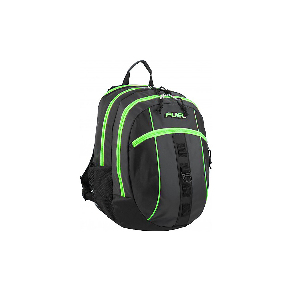 Fuel Active Backpack Black with Green Sizzle Fuel Everyday Backpacks