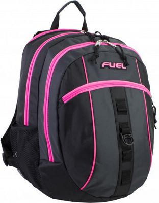 Fuel Active Backpack Black with Pink Sizzle - Fuel Everyday Backpacks