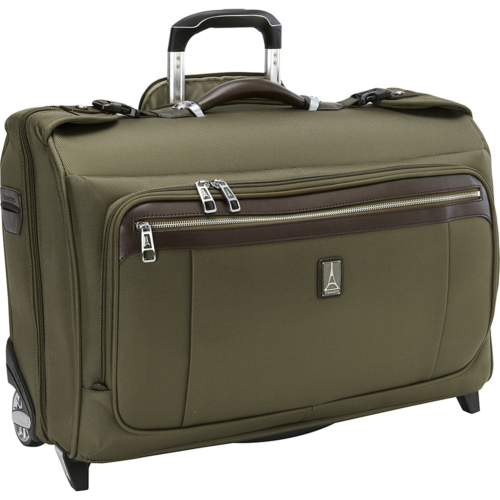 Travelpro Platinum Magna 2 Carry-on Rolling Garment bag Olive - Travelpro Garment Bags