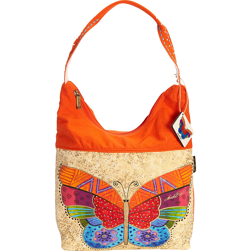 Laurel Burch Flutterbye Medium Scoop Tote Multi Laurel Burch Fabric Handbags
