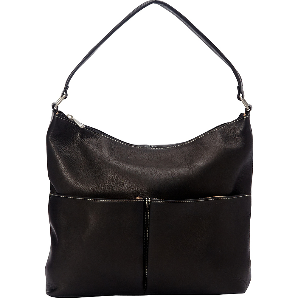 Le Donne Leather Hickory Shoulder Bag Black - Le Donne Leather Leather Handbags - Handbags, Leather Handbags