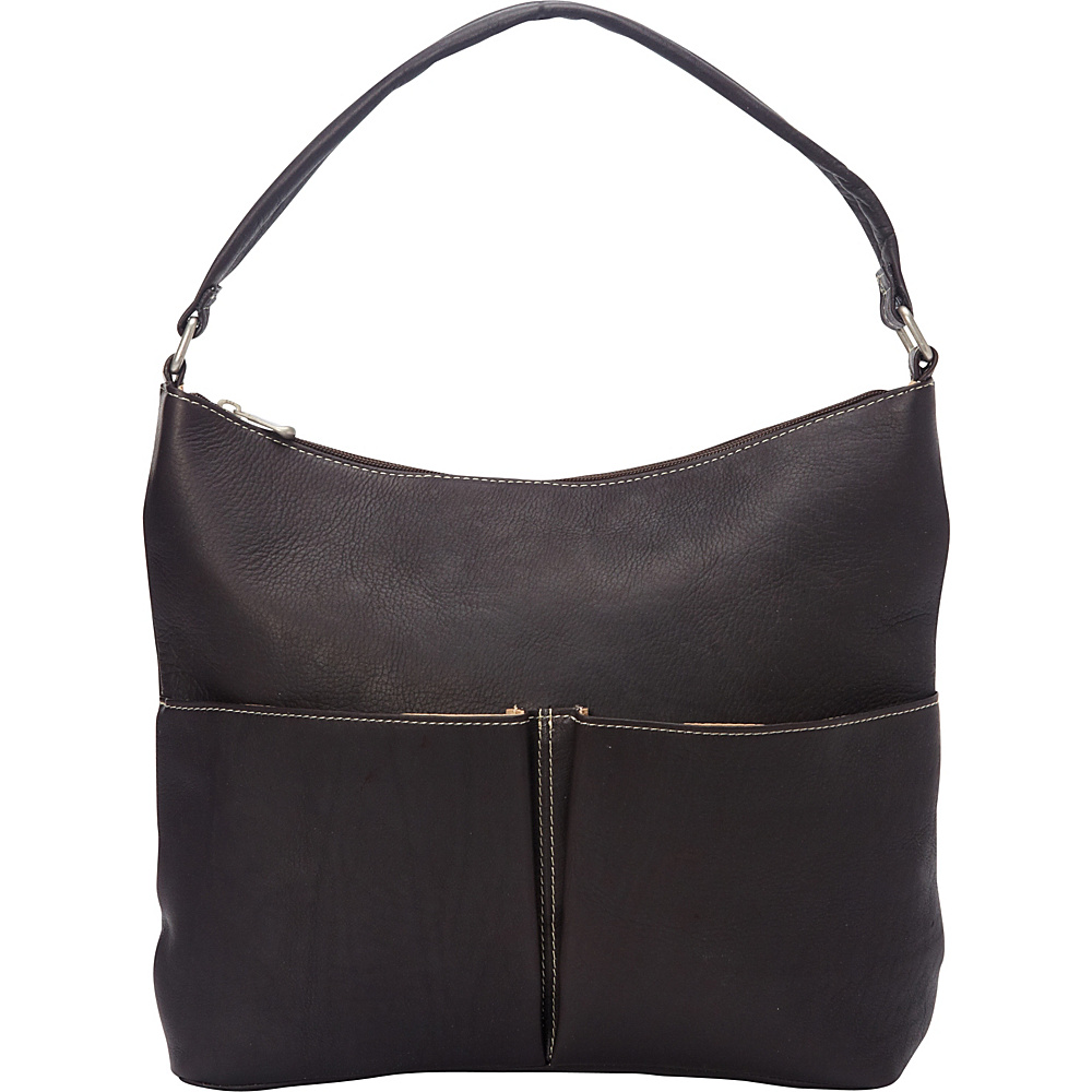 Le Donne Leather Hickory Shoulder Bag Cafe - Le Donne Leather Leather Handbags - Handbags, Leather Handbags