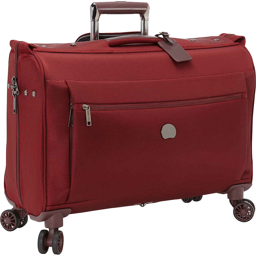 Delsey Montmartre Carry on Spinner Trolley Garment Bag Bordeaux Delsey Garment Bags