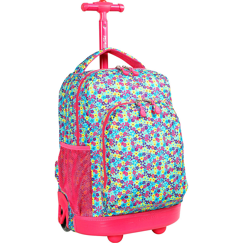 J World New York Sunny Rolling Backpack Floret - J World New York Rolling Backpacks - Backpacks, Rolling Backpacks