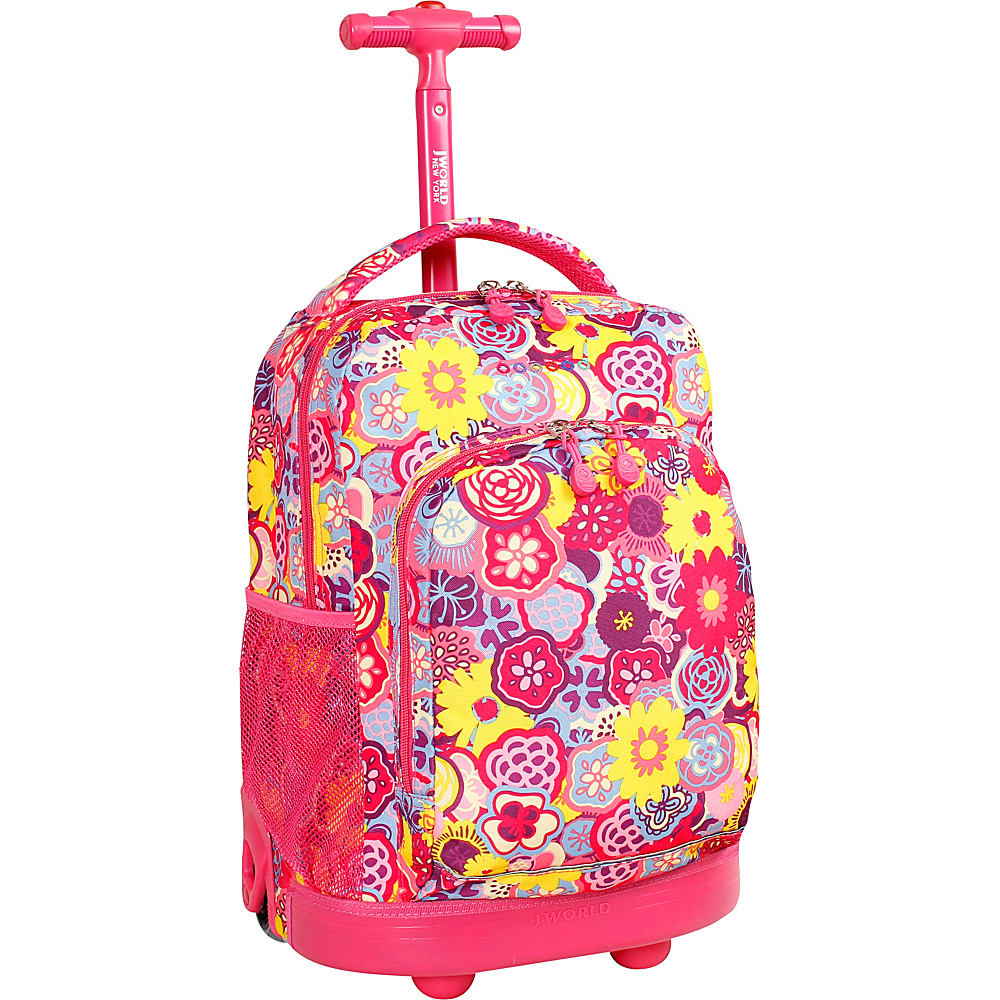 J World New York Sunny Rolling Backpack POPPY PANSY - J World New York Rolling Backpacks - Backpacks, Rolling Backpacks