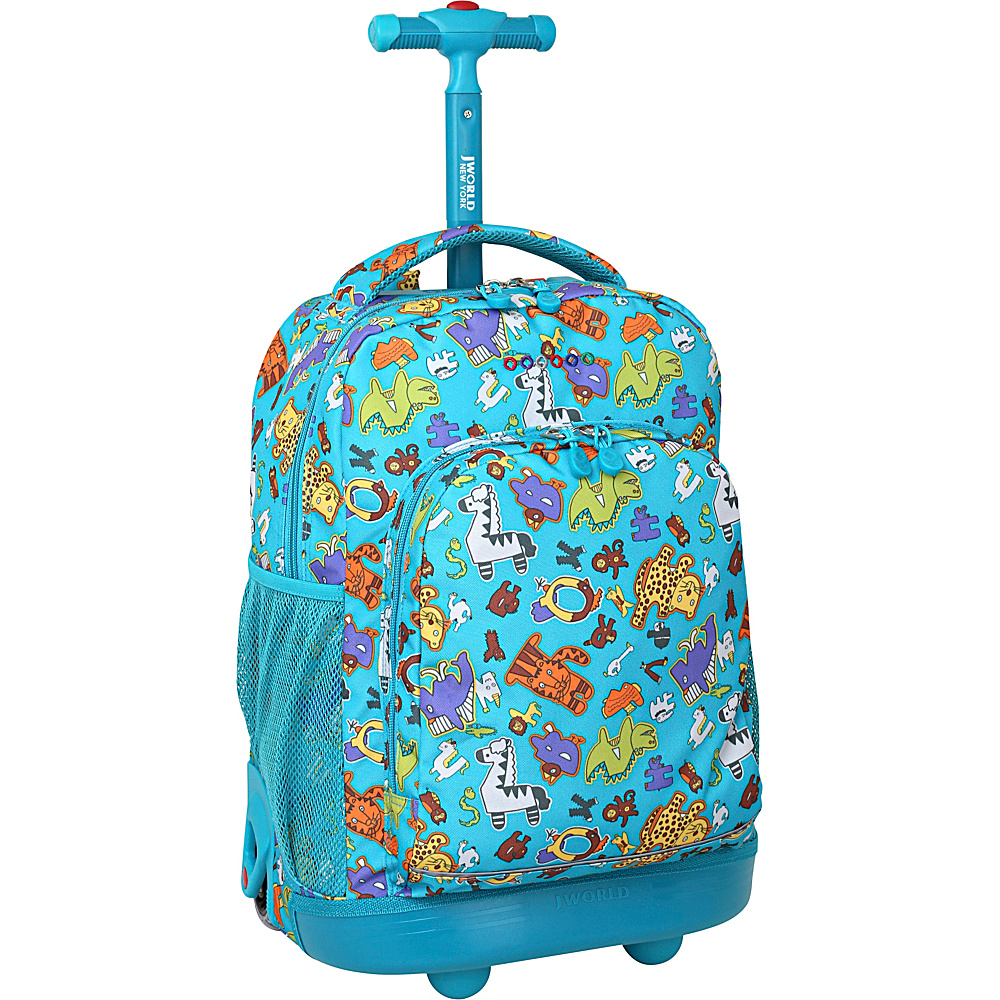 J World New York Sunny Rolling Backpack Aniphabets - J World New York Rolling Backpacks - Backpacks, Rolling Backpacks