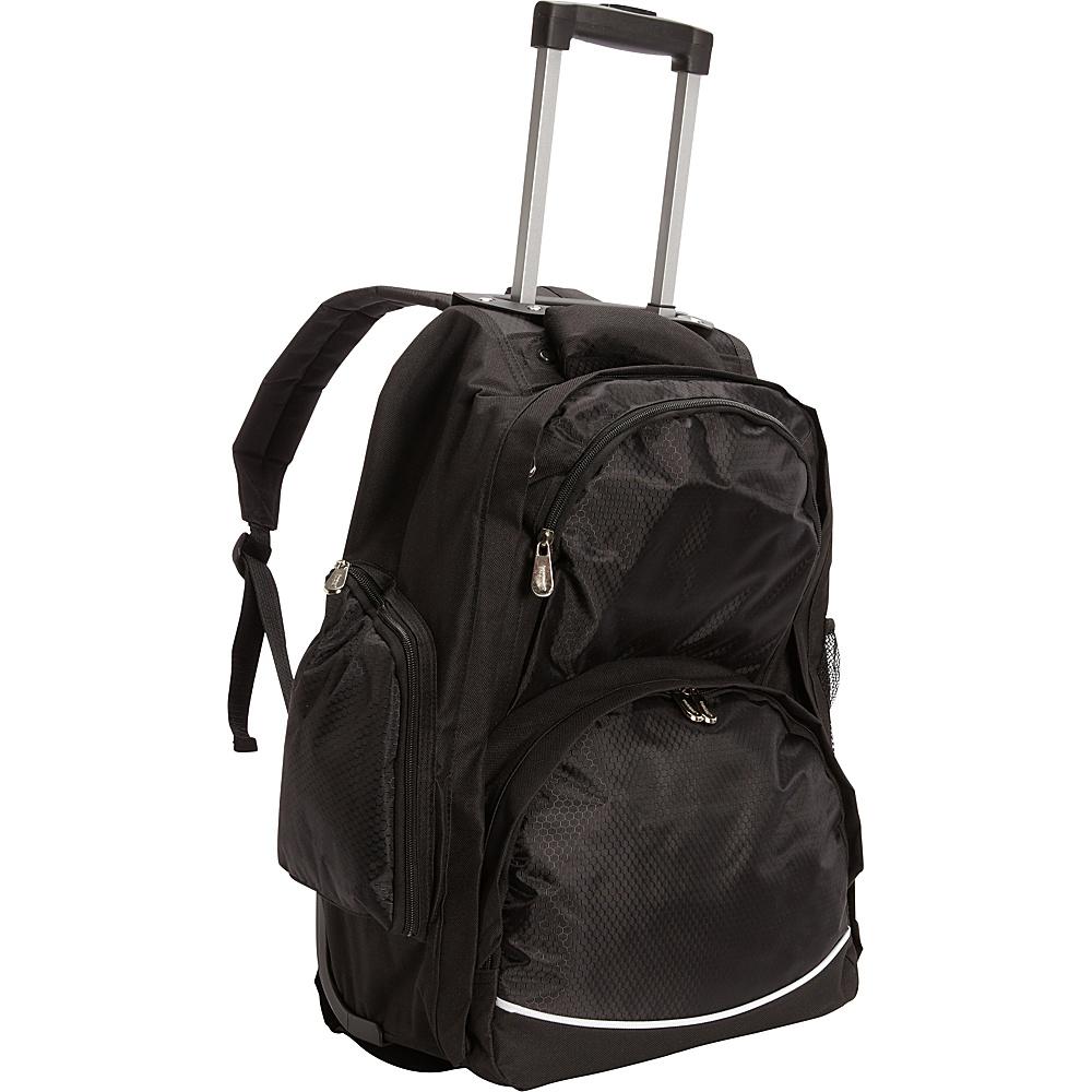 Bellino Rolling Computer Backpack Black Bellino Rolling Backpacks