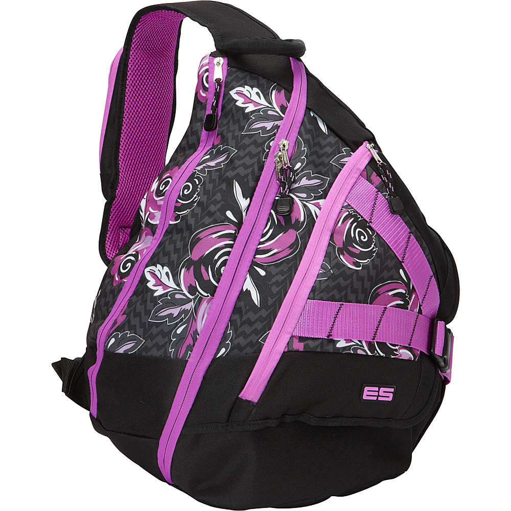 Eastsport Triple Zip Sling Bag Floral Eastsport Slings