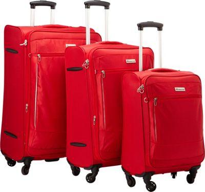 McBrine Luggage A188 ECO Exp Three Piece Set Red - McBrine Luggage Luggage Sets