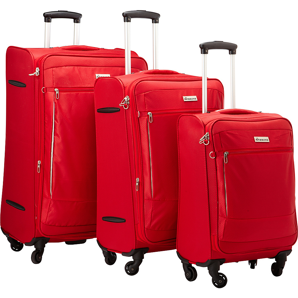 McBrine Luggage A188 ECO Exp Three Piece Set Red - McBrine Luggage Luggage Sets