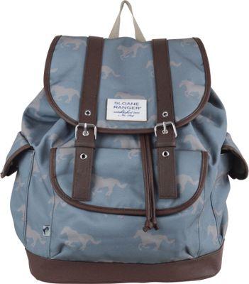 Sloane Ranger Slouch Backpack Grey Horse - Sloane Ranger Everyday Backpacks