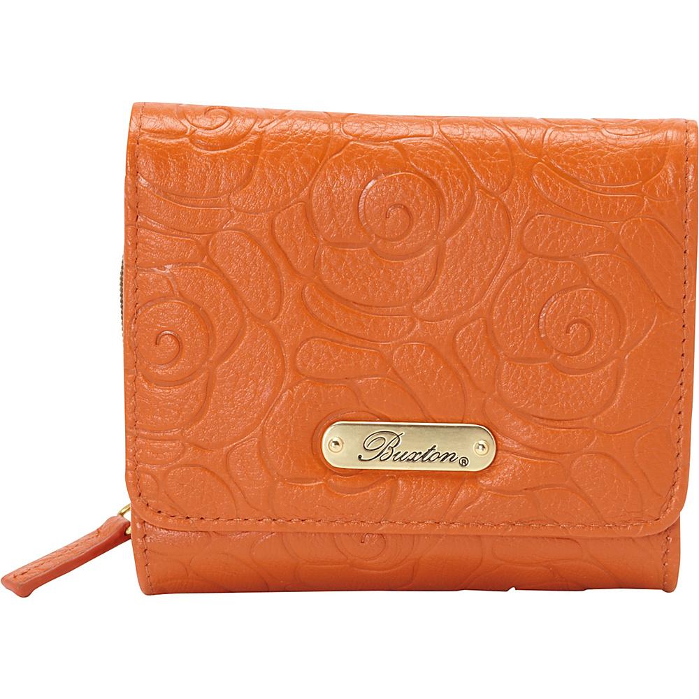 Buxton Rose Garden Accordion Zip French Wallet Burnt Orange - Buxton Womens Wallets - Women's SLG, Women's Wallets