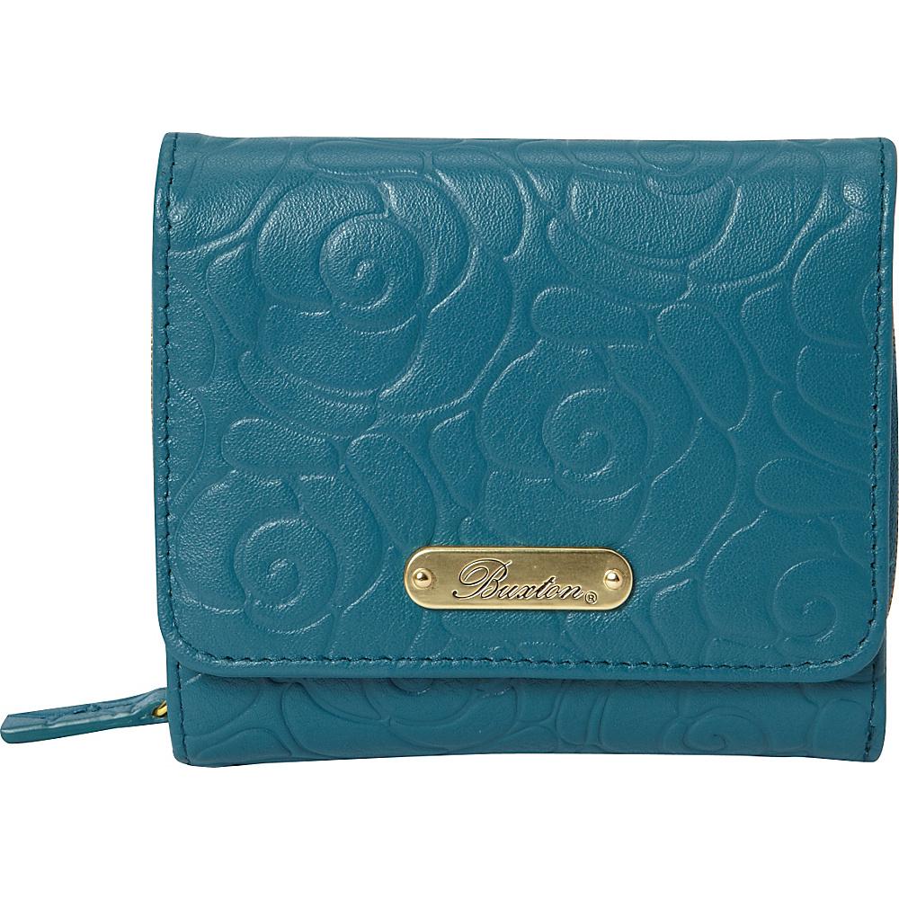 Buxton Rose Garden Accordion Zip French Wallet Dragonfly - Buxton Womens Wallets - Women's SLG, Women's Wallets