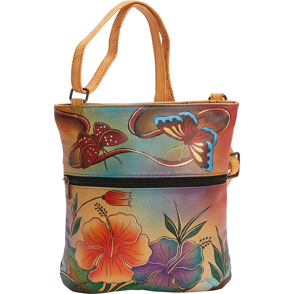anna by anuschka hand painted slim cross shoulder bag