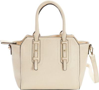 Diophy Belted Satchel Ivory - Diophy Manmade Handbags