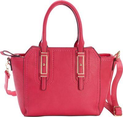 Diophy Belted Satchel Pink - Diophy Manmade Handbags