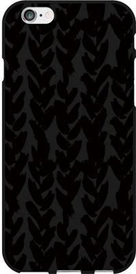Centon Electronics OTM Black Matte iPhone 6 Case Black/Black Collection - Hearts - Centon Electronics Electronic Cases