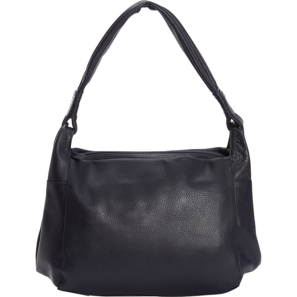 Derek Alexander Medium Tablet Friendly Triple Compartment Hobo Navy - Derek Alexander Leather Handbags - Handbags, Leather Handbags
