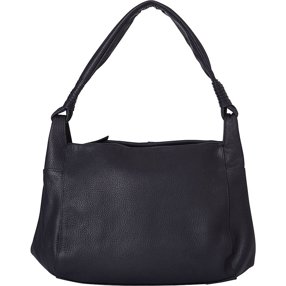 Derek Alexander Medium Tablet Friendly Triple Compartment Hobo Black - Derek Alexander Leather Handbags - Handbags, Leather Handbags