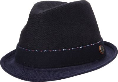 Ben Sherman Wool Herringbone Trilby Hat S/M - Jet Black - Ben Sherman Hats/Gloves/Scarves