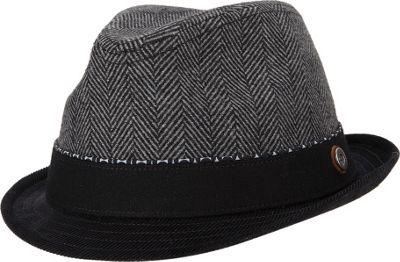 Ben Sherman Wool Herringbone Trilby Hat Smoked Pearl - Small/Medium - Ben Sherman Hats/Gloves/Scarves