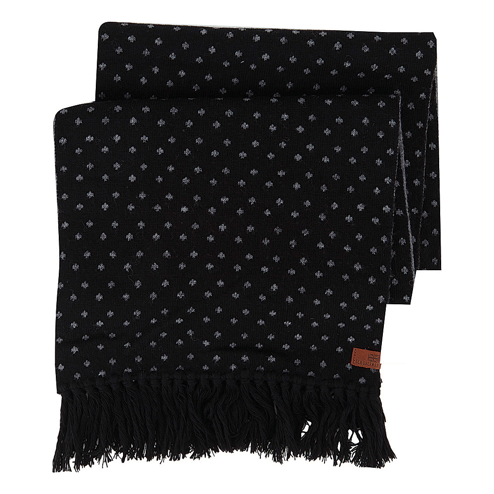 Ben Sherman Micro Dot Knit Scarf Jet Black Ben Sherman Hats Gloves Scarves