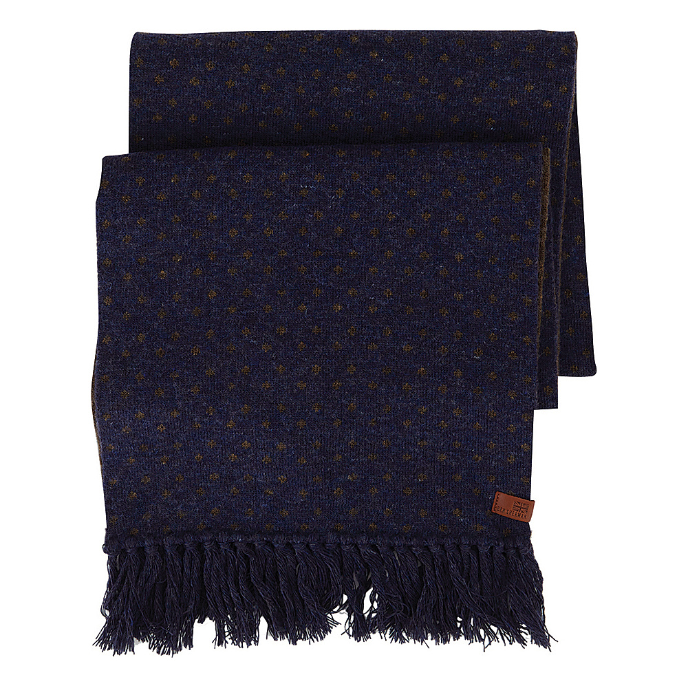 Ben Sherman Micro Dot Knit Scarf Navy Blazer Ben Sherman Hats Gloves Scarves