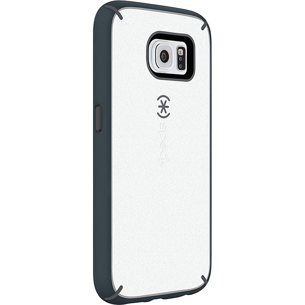 Speck Samsung Galaxy S6 Mightyshell Faceplate White Charcoal Gray Slate Gray Speck Electronic Cases