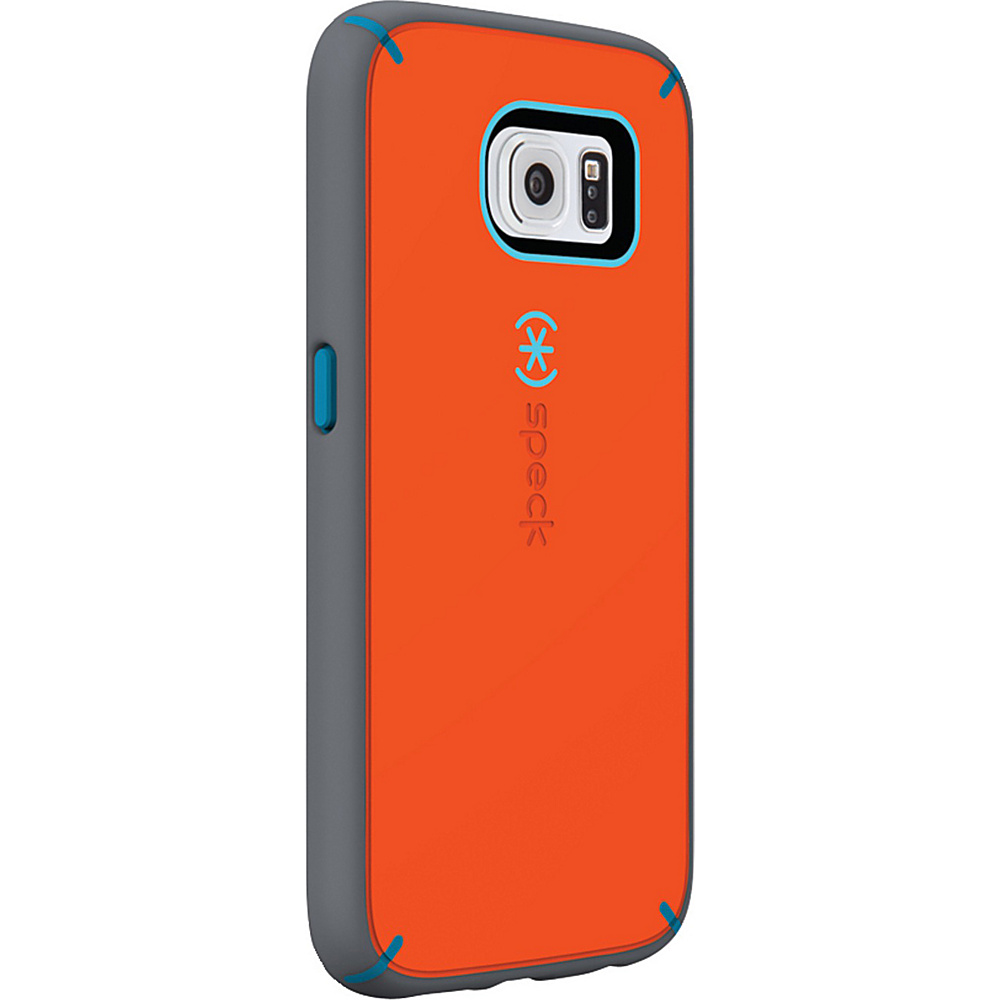 Speck Samsung Galaxy S6 Mightyshell Faceplate Carrot Orange Speck Blue Slate Gray Speck Electronic Cases