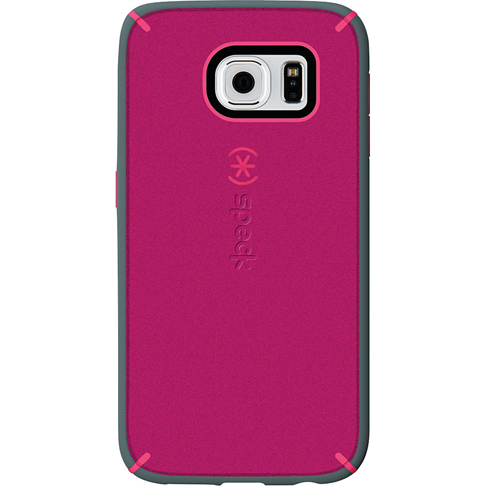 Speck Samsung Galaxy S6 Mightyshell Faceplate Fuchsia Pink Cupcake Pink Heritage Gray Speck Electronic Cases