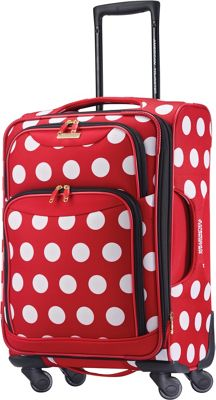 American Tourister Disney Minnie Mouse Softside Spinner 21 inch Minnie Mouse Polka Dot - American Tourister Kids' Luggage