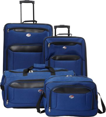 American Tourister Brookfield 4-Piece Luggage Set Navy/Black - American Tourister Luggage Sets