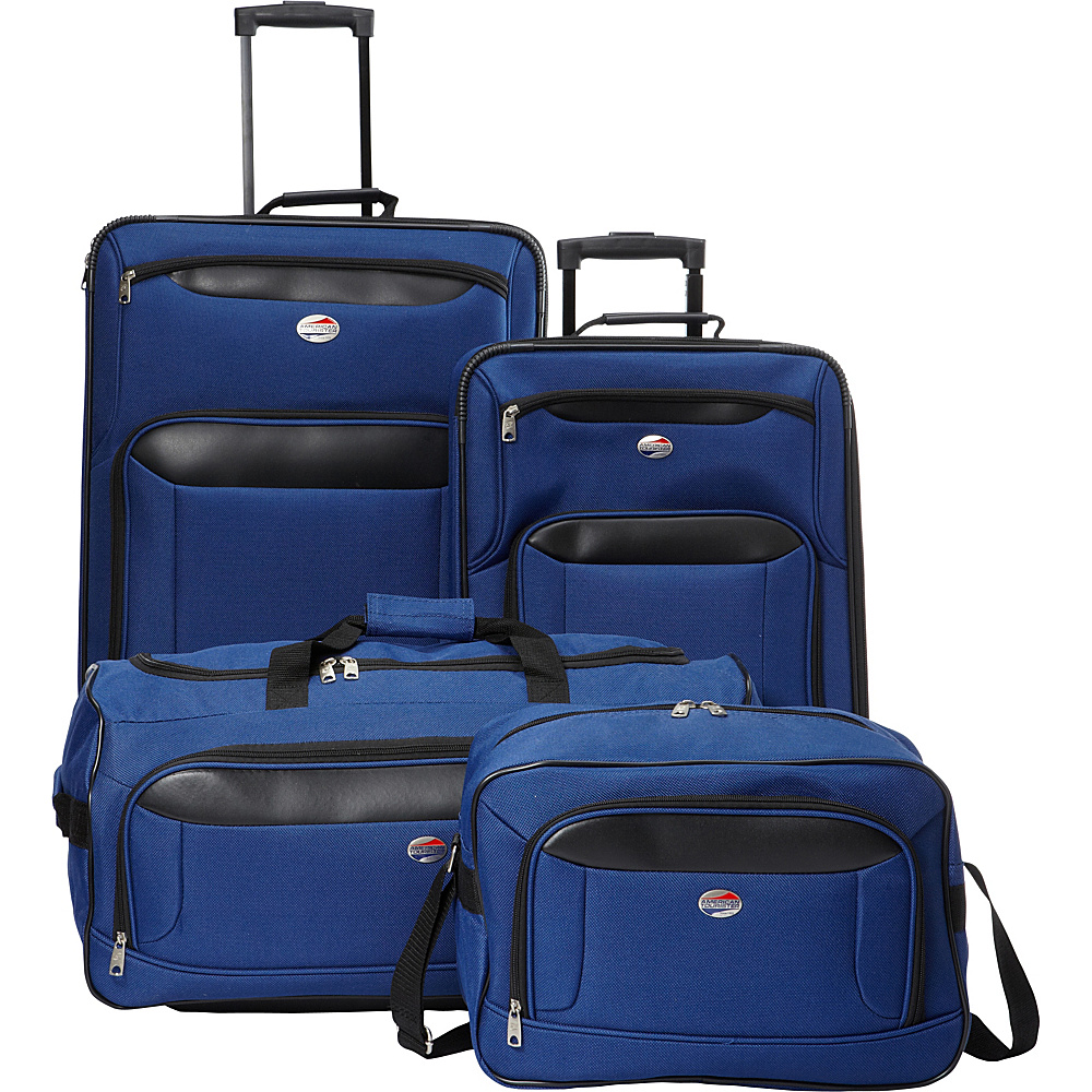 American Tourister Brookfield 4pc Set Navy/Black - American Tourister Luggage Sets
