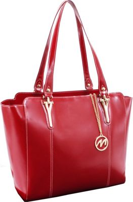 McKlein USA Alicia Tote Red - McKlein USA Women's Business Bags