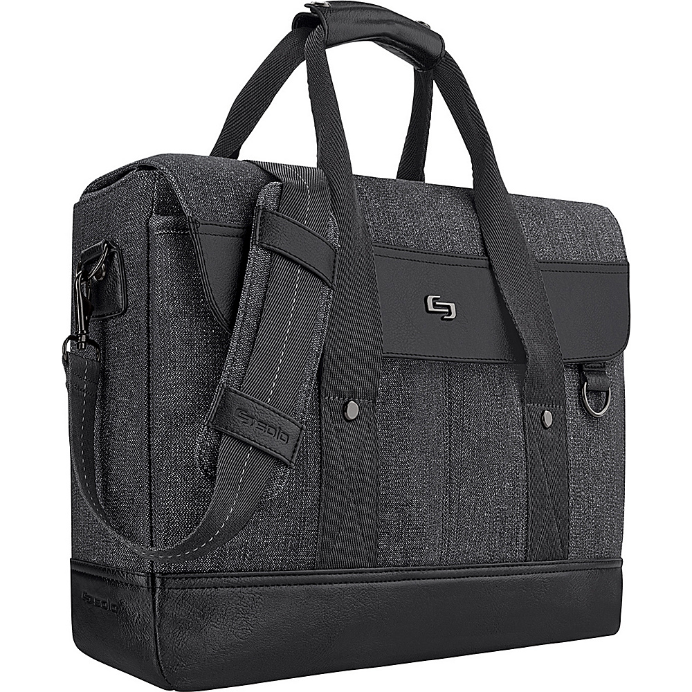 SOLO Bradford 15.6 Hybrid Briefcase Black SOLO Non Wheeled Business Cases