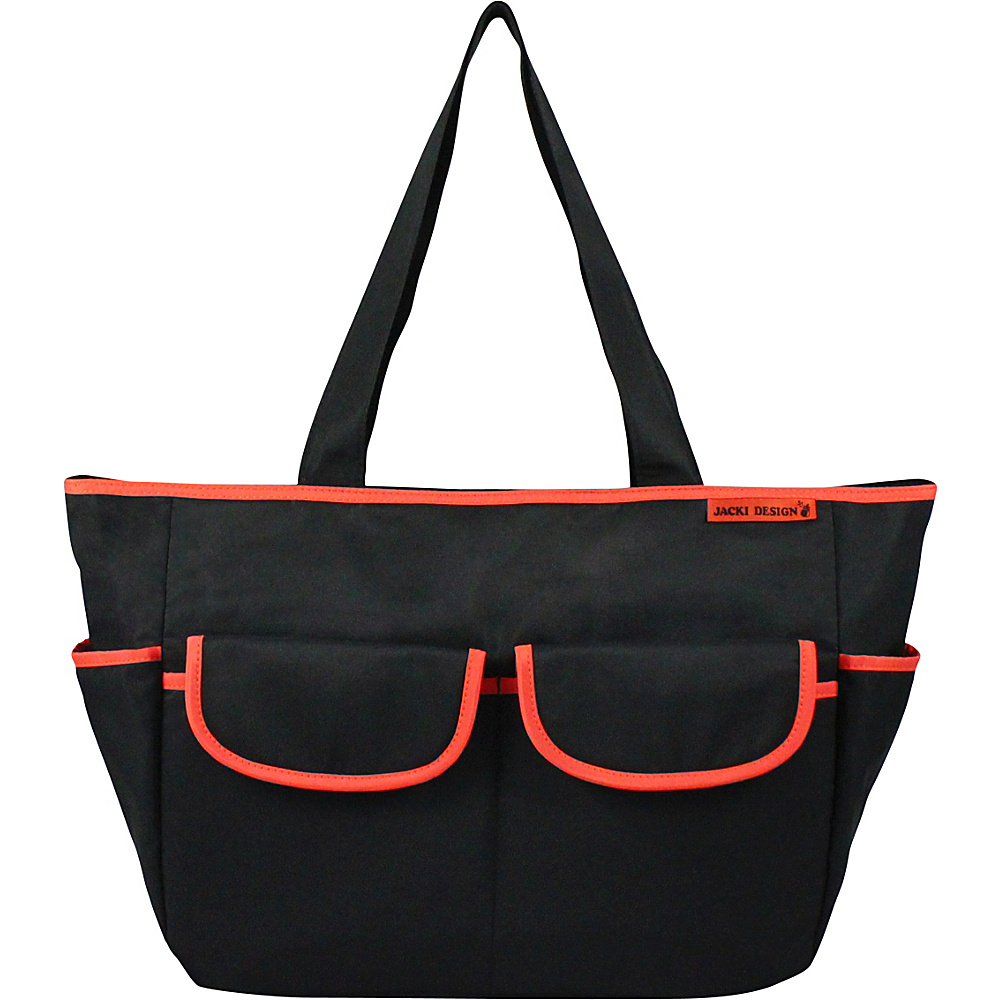 Jacki Design Fashion Diaper Bag Black Orange Jacki Design Diaper Bags Accessories
