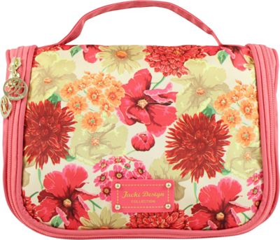 Jacki Design Miss Cherie Travel Bag with Hanger Coral - Jacki Design Toiletry Kits