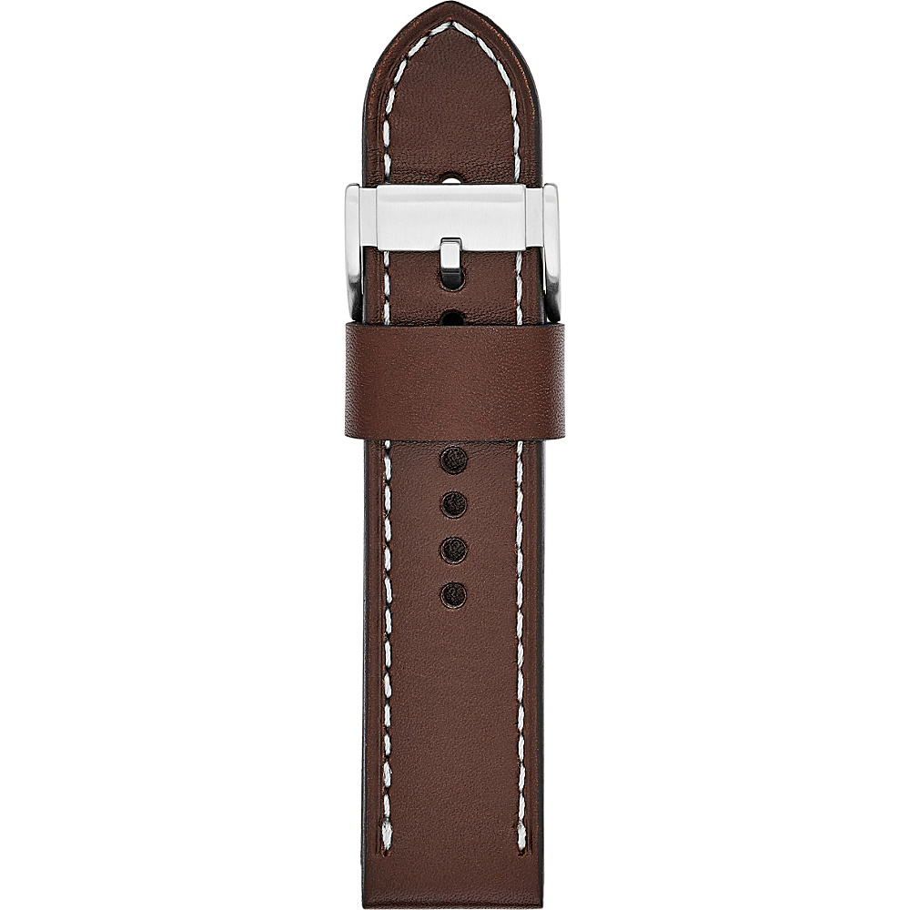 Fossil Leather 24mm Watch Strap Light Brown - Fossil Watches - Fashion Accessories, Watches