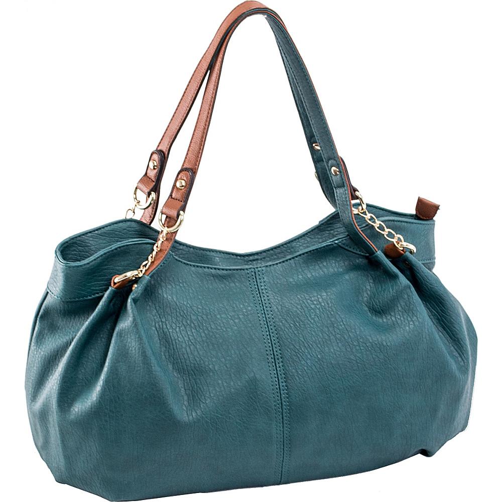 Parinda Arianna Shoulder Bag Dark Green - Parinda Manmade Handbags