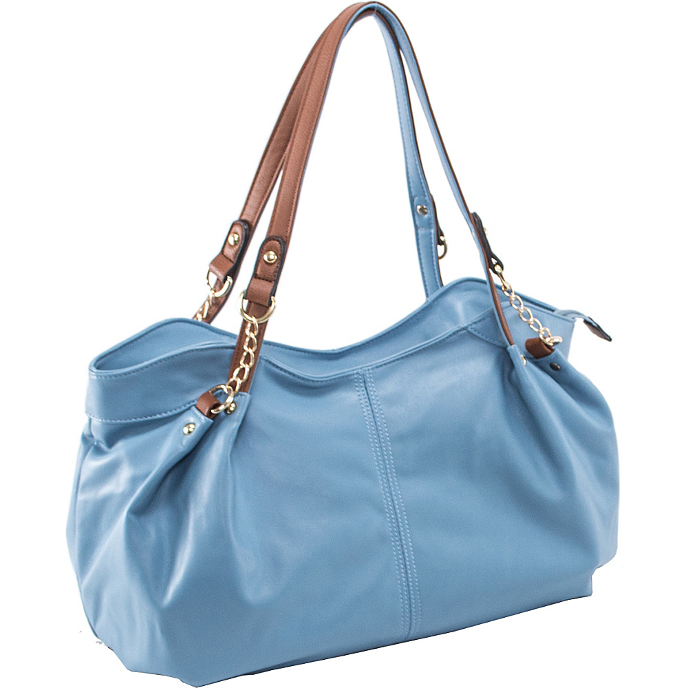 Parinda Arianna Shoulder Bag Aqua Blue - Parinda Manmade Handbags