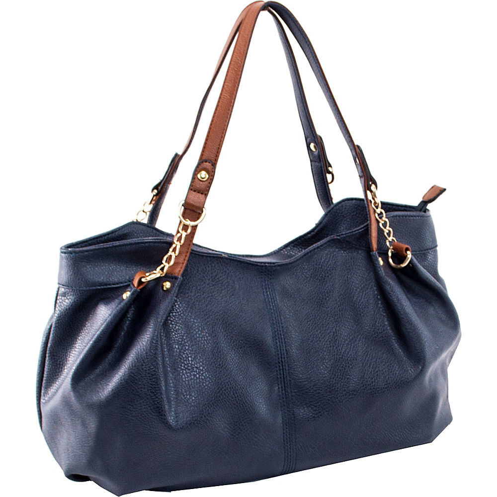 Parinda Arianna Shoulder Bag Navy - Parinda Manmade Handbags