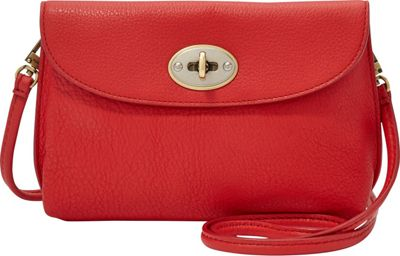Fossil Monica Crossbody Real Red - Fossil Leather Handbags