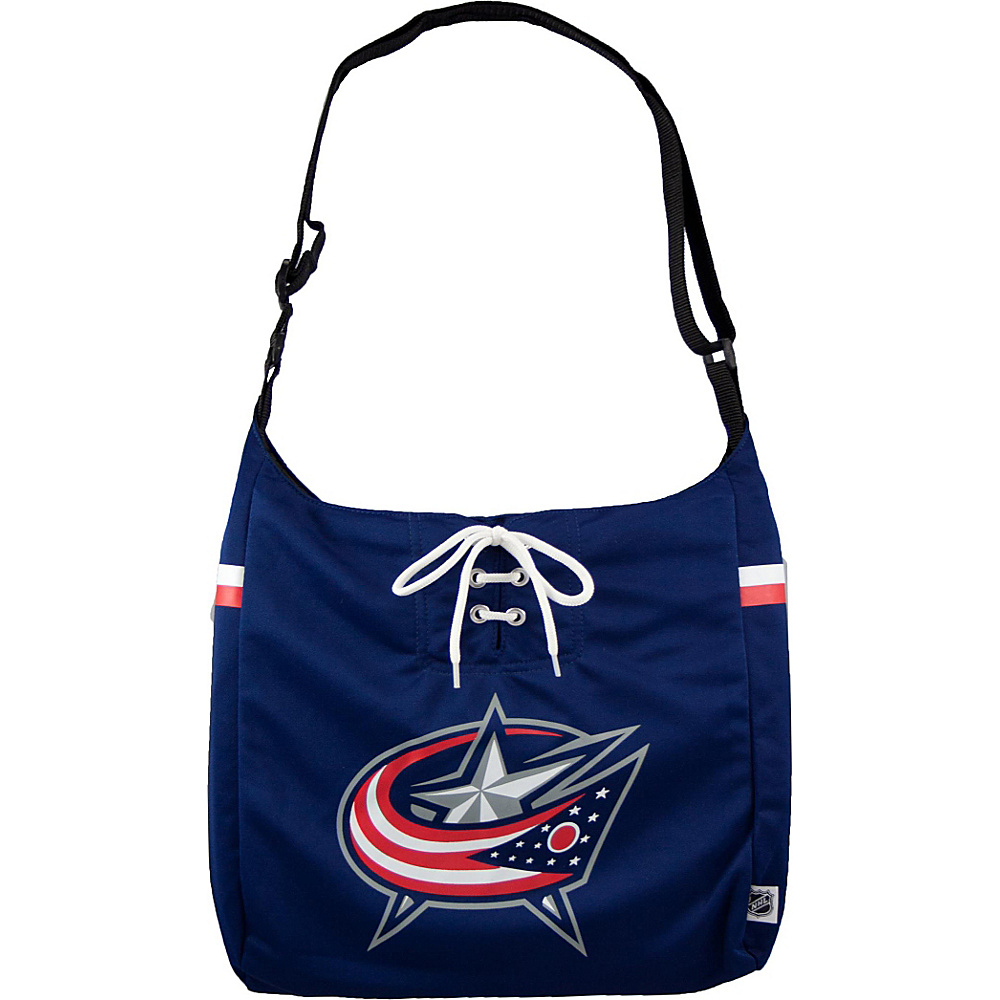 Littlearth Team Jersey Shoulder Bag - NHL Teams Columbus Blue Jackets - Littlearth Fabric Handbags - Handbags, Fabric Handbags