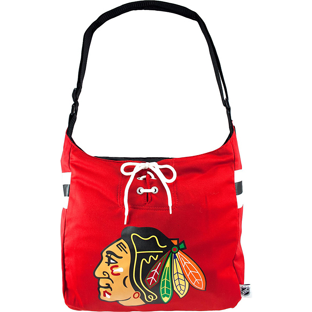 Littlearth Team Jersey Shoulder Bag - NHL Teams Chicago Blackhawks - Littlearth Fabric Handbags - Handbags, Fabric Handbags